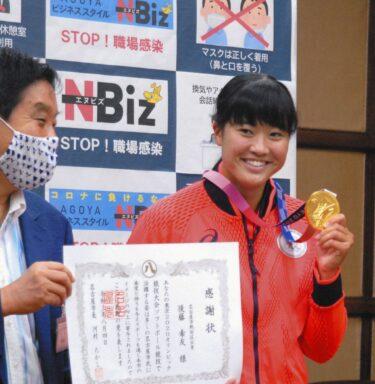 河村たかし名古屋市長「元気な女の子は最高だわ。女の子と言えんか。アップに耐えられるかな」後藤選手の表敬訪問で